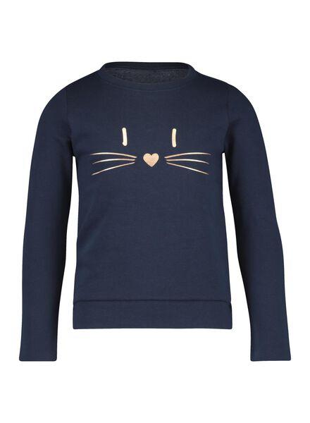 kindersweater donkerblauw donkerblauw - 1000014883 - HEMA