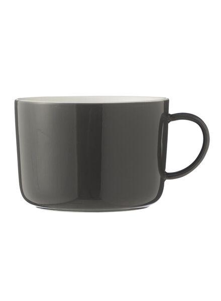 cappuccinomok - 330 ml - Chicago - donkergrijs 330 ml donkergrijs - 9680053 - HEMA