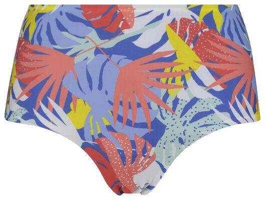 dames bikinislip high waist blauw L - 22311183 - HEMA