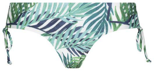 dames bikinibroekje recycled - bladeren blauw M - 22350482 - HEMA