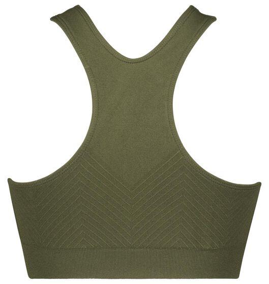 sporttop medium support naadloos groen XL - 21700294 - HEMA