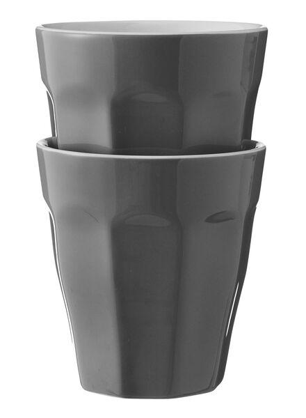 mokken - 250 ml - Mirabeau - donkergrijs - 2 stuks 25cl donkergrijs - 9680056 - HEMA