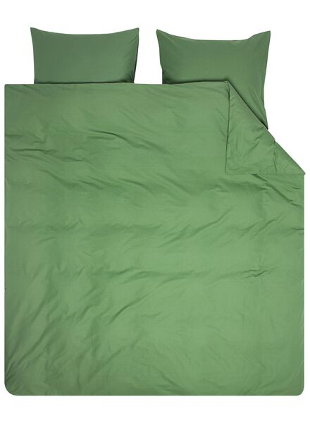 dekbedovertrek - zacht katoen - uni groen groen - 1000016596 - HEMA