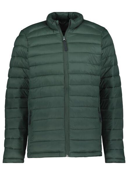 herenjas gewatteerd groen groen - 1000015720 - HEMA