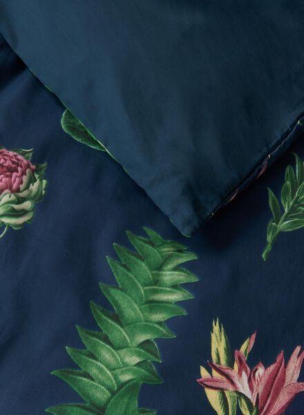 dekbedovertrek - katoensatijn - bloemen multicolor multicolor - 1000015485 - HEMA