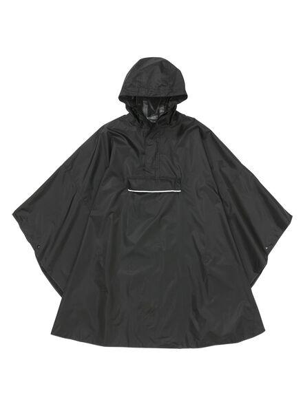 Regenponcho voor volwassen opvouwbaar zwart