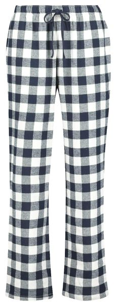 damespyjama donkerblauw - 1000020264 - HEMA