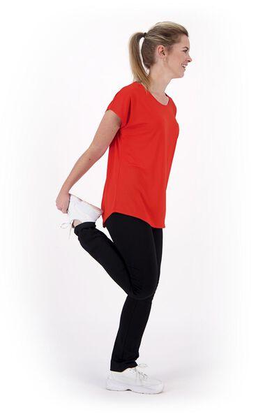 dames sportshirt loose fit oranje - 1000020050 - HEMA