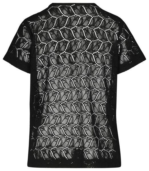 dames t-shirt zwart M - 36232212 - HEMA
