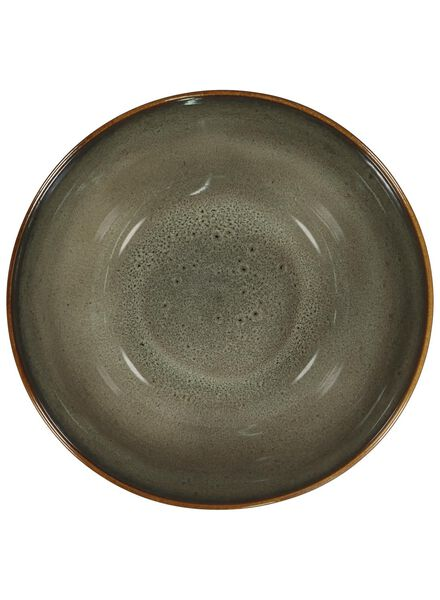 schaal - 26 cm - Porto - reactief glazuur - taupe - 9602056 - HEMA