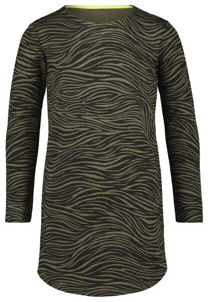 kinderjurk zebra legergroen legergroen - 1000023090 - HEMA