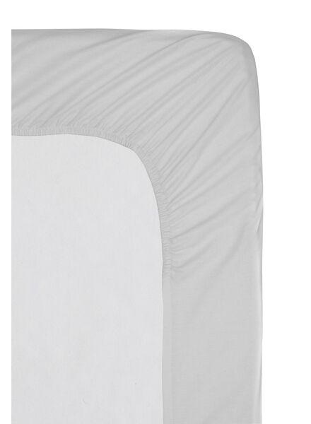 hoeslaken - hotel katoen percal - 160 x 200 cm - lichtgrijs - 5140119 - HEMA