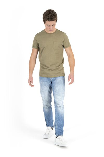 heren t-shirt legergroen legergroen - 1000018196 - HEMA