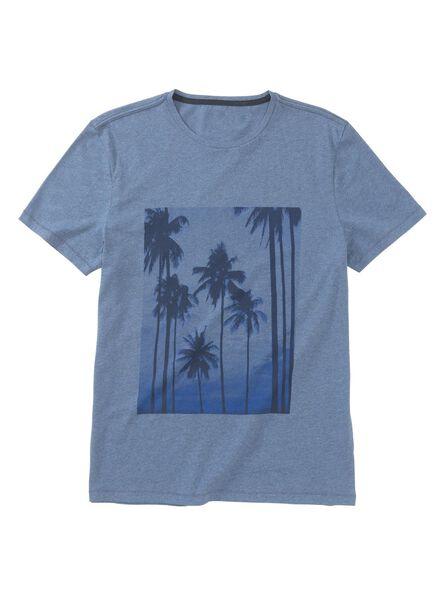heren t-shirt blauw blauw - 1000013456 - HEMA