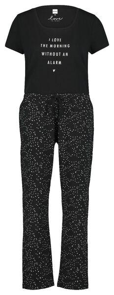 damespyjama zwart zwart - 1000019980 - HEMA