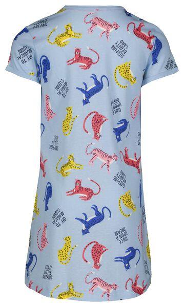 kinder nachthemd cheetah lichtblauw lichtblauw - 1000023826 - HEMA