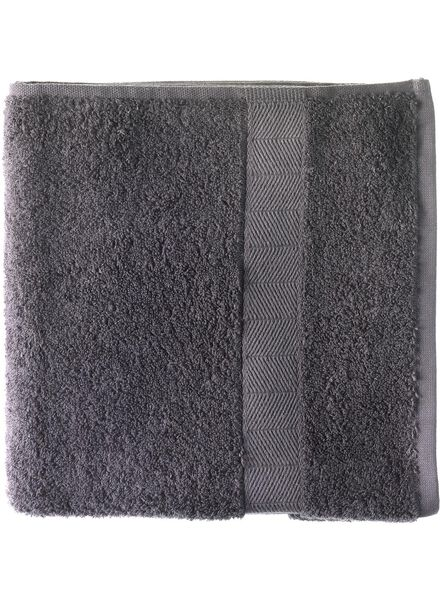 handdoek - 70 x 140 cm - zware kwaliteit - donkergrijs - 5214602 - HEMA