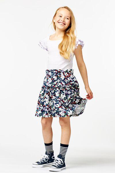 kinder t-shirt strepen rib lila lila - 1000023794 - HEMA