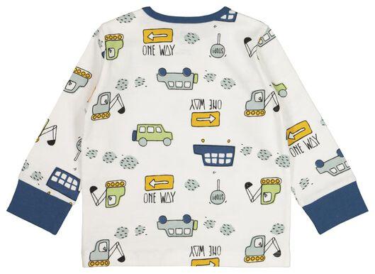 2-pak babypyjama's auto blauw blauw - 1000017778 - HEMA