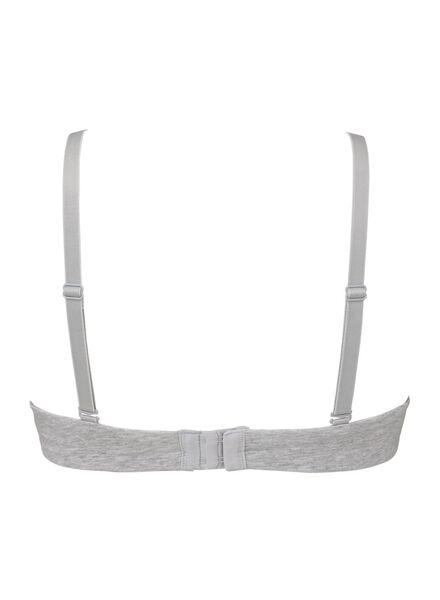padded t- shirt bh zonder beugel katoen grijsmelange grijsmelange - 1000006602 - HEMA