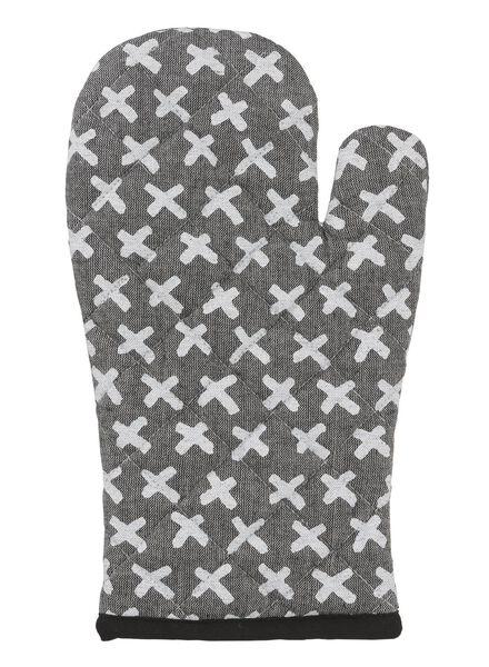 ovenwant - katoen - zwart kruisje - 5410039 - HEMA