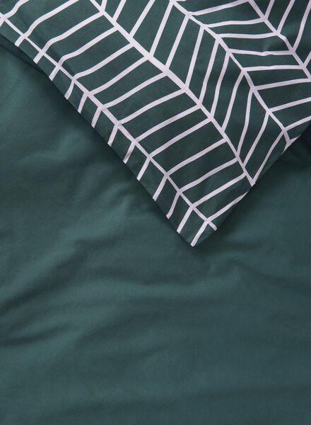 dekbedovertrek - 240 x 220 - zacht katoen - groen - 5710072 - HEMA