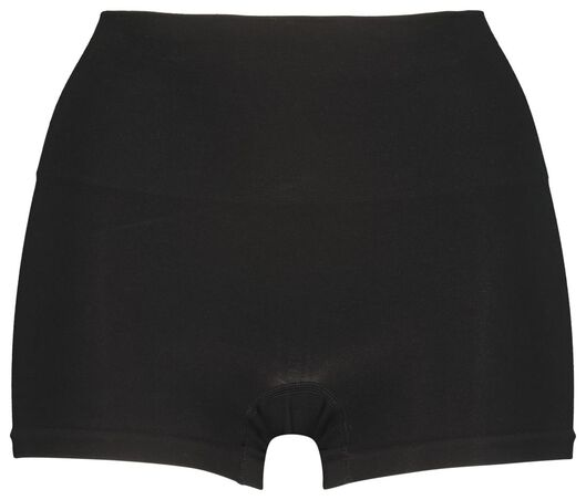 damesboxer light control met bamboe zwart zwart - 1000021262 - HEMA