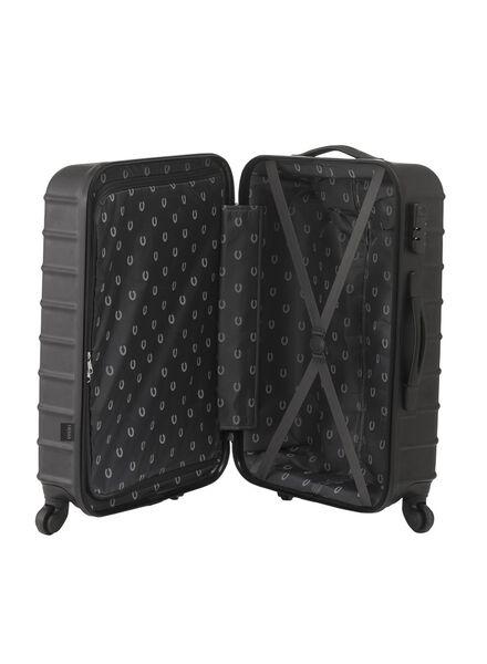 koffer - 67 x 44 x 25 - zwart streep - 18600249 - HEMA