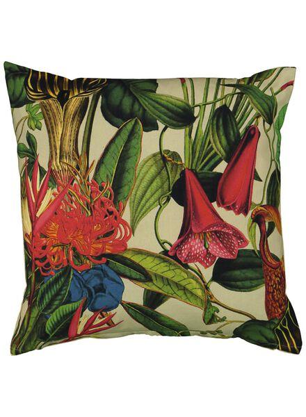 kussenhoes - 50x50 - bloemen naturel - 7391058 - HEMA