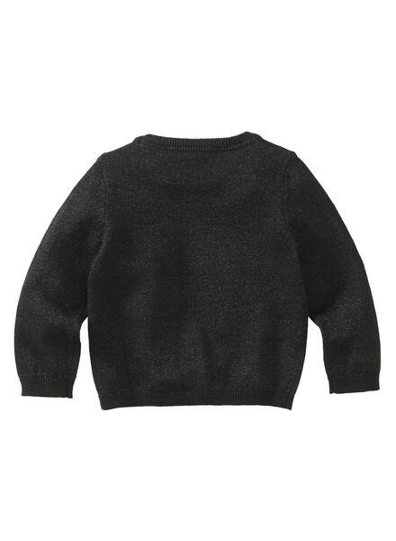babysweater zwart zwart - 1000008290 - HEMA