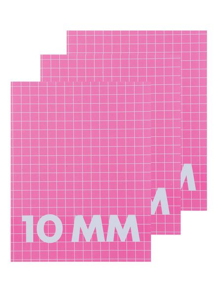 3-pak schriften A5 ruit 10 mm - 14540664 - HEMA