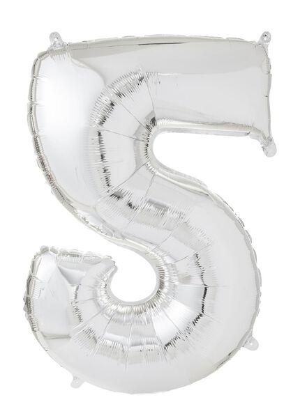 XXL folie ballon cijfer 5 - 60800185 - HEMA