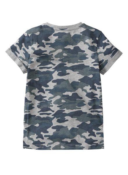 kinder t-shirt middenblauw middenblauw - 1000003758 - HEMA