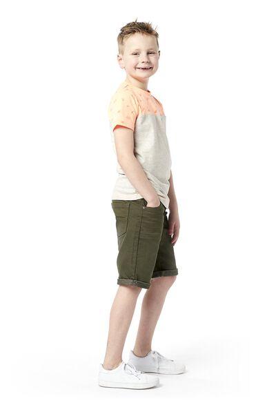kinder t-shirt grijsmelange grijsmelange - 1000019153 - HEMA