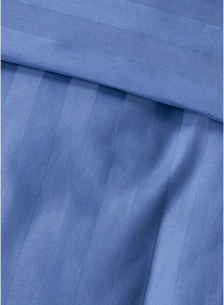 dekbedovertrek - hotel katoen satijn - 140 x 200 cm - streep blauw 140 x 200 - 5750049 - HEMA