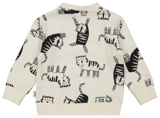 babysweater tijgers gebroken wit - 1000022115 - HEMA