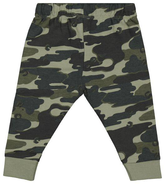 baby sweatbroek camouflage groen groen - 1000022026 - HEMA