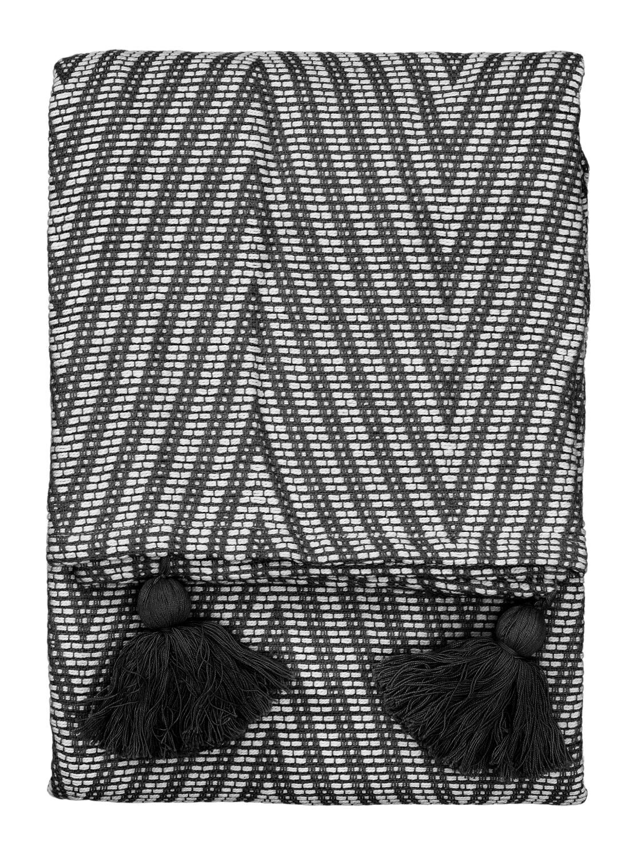 HEMA Plaid 130 X 150 Cm Zwart Wit (zwart/wit)