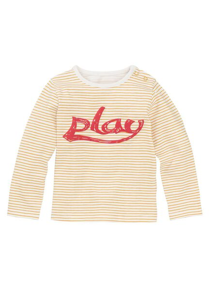 newborn baby t-shirt geel geel - 1000011127 - HEMA