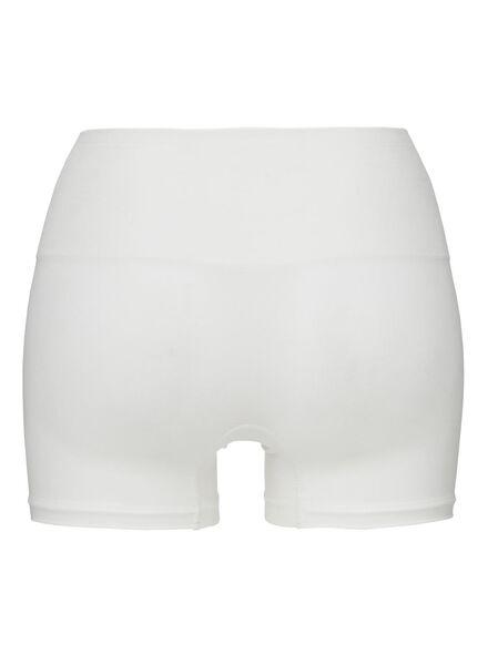 corrigerende damesboxer naadloos met bamboe wit wit - 1000002368 - HEMA
