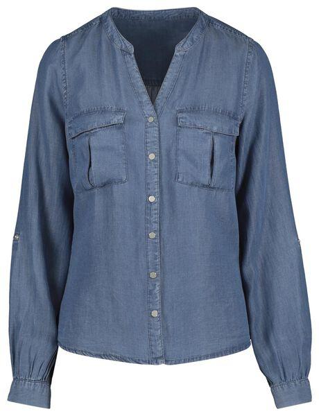 damesblouse blauw blauw - 1000019405 - HEMA