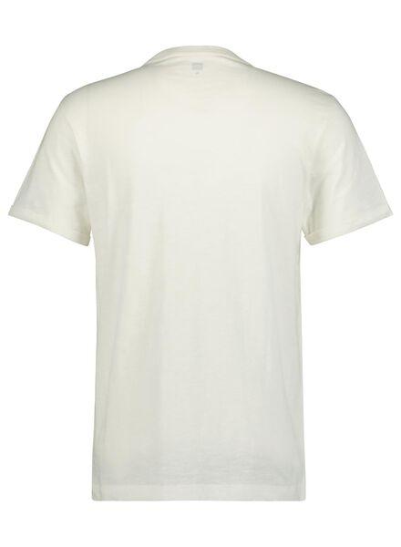 heren t-shirt slub wit wit - 1000014292 - HEMA