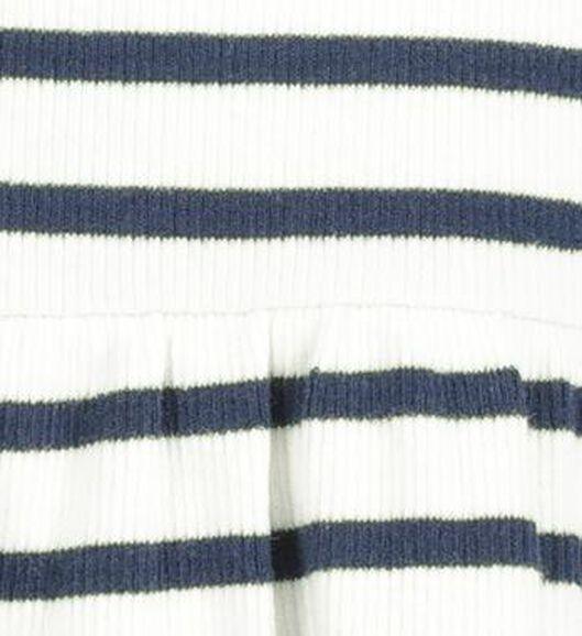 kinderjurk rib strepen wit wit - 1000020526 - HEMA