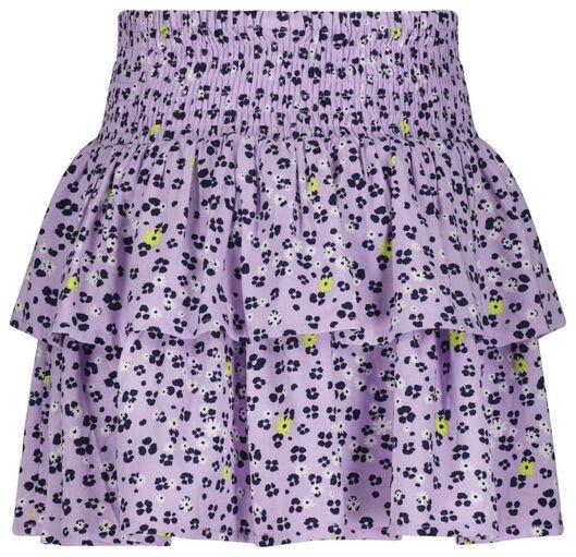 kinderrok volant bloemen paars paars - 1000023655 - HEMA