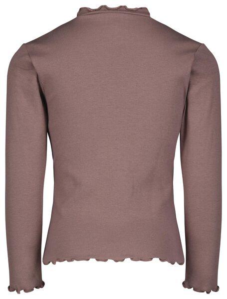 kinder t-shirt rib paars 134/140 - 30832652 - HEMA