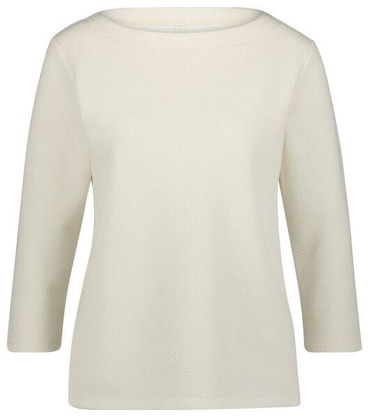 dames t-shirt structuur - 36289657 - HEMA