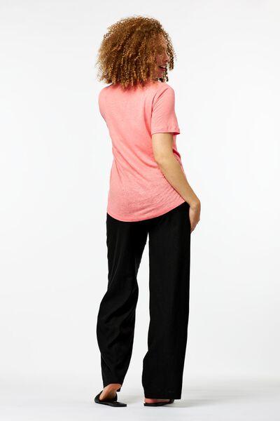 dames broek linnen zwart zwart - 1000024265 - HEMA