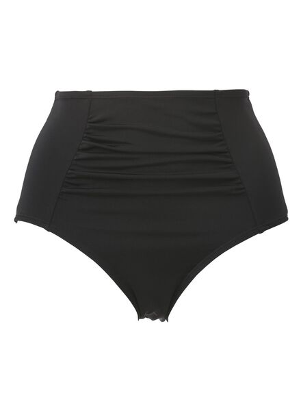 dames bikinislip hoge taille control zwart zwart - 1000011792 - HEMA