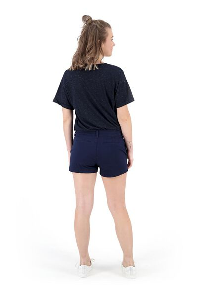 dames chino short donkerblauw donkerblauw - 1000019646 - HEMA