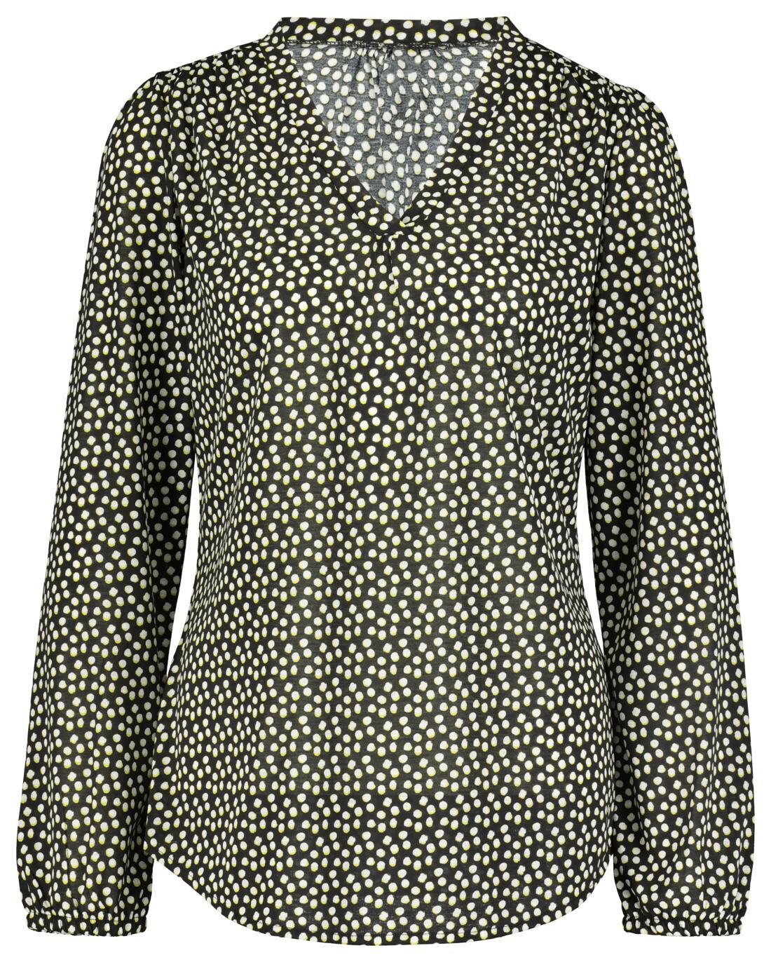 HEMA Dames Top Gerecycled Zwart/wit (zwart/wit)